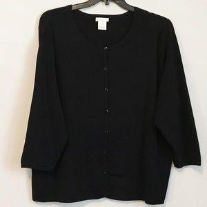 Worthington black knit button-down cardigan 3X